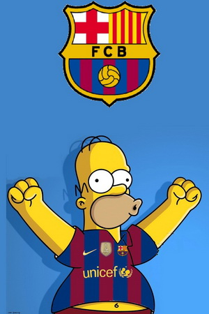 Fond d'écran iPhone 4 FC Barcelona 640x960 gratuit