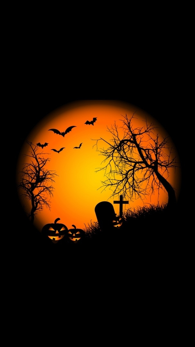 Fond D Cran Iphone 5 Halloween 39 640x1136 Gratuit