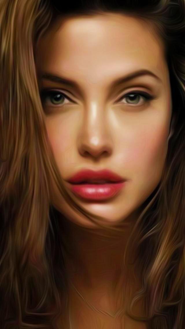 Fond D Ecran Iphone 5 Angelina Jolie 04 640x1136 Gratuit